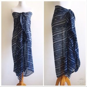 Cotton On Scarf Pareo Sarong Cover Up Blue Print